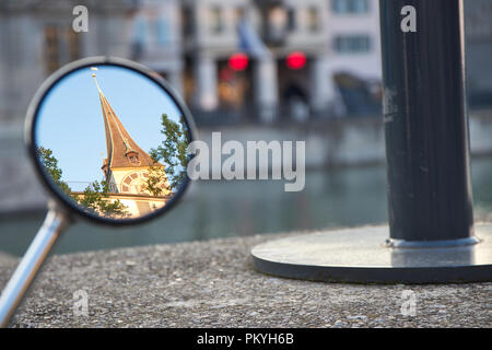 St. Peter cathedral in Zurich - Stock Image