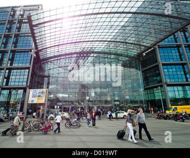 Berlin Hauptbahnhof central railway station in Berlin Germany - Stock Image