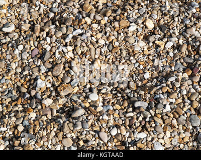 Shingle on a beach - Stock Image