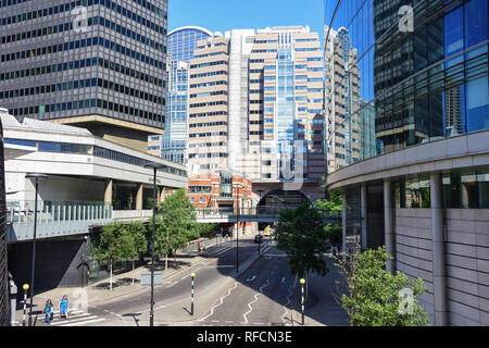 London Wall, Barbican, City of London, Greater London, England, United Kingdom - Stock Image