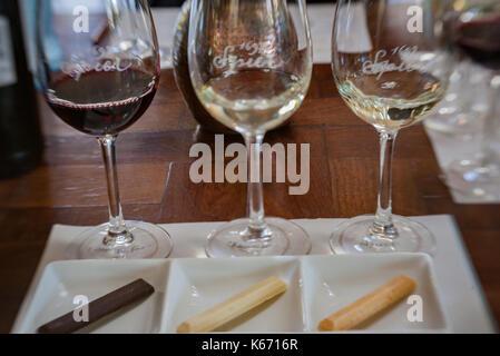 Speier Winery Chocolate Tasting Stellenbosch South Africa - Stock Image