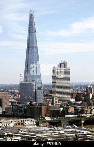 Aerial view of the Shard London - Stock Image