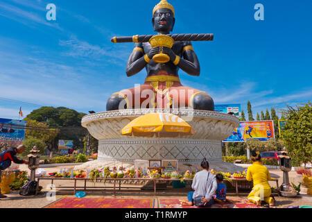 TaDambang statue, Battambang, Cambodia, Asia - Stock Image