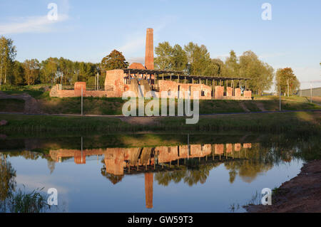 Preserved ruins of Raadi manor distillery territory of the Estonian National Museum. Tartu, Estonia; Baltic States, - Stock Image
