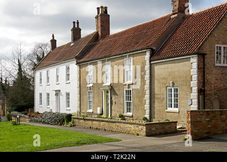 Houses in the village of South Cave, East Yorkshire, England UK - Stock Image