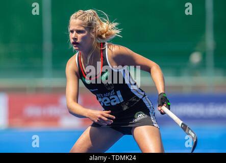 Krefeld, Germany, June 16 2019, hockey, women, FIH Pro League, Germany vs. Australia:  Hannah Gablac (Germany) looks on. - Stock Image