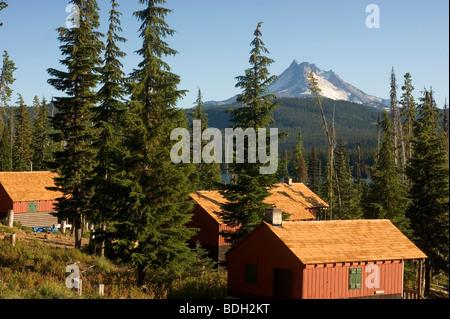 Olallie Lake Resort Mount Jefferson - Stock Image