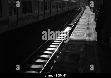 Tokyo Metro Rails - Stock Image
