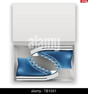 Opened Shoe Box with Gumshoes - Stock Image