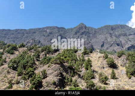 Volcanic landscape of La Palma Island, Canaries - Stock Image