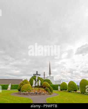 Knock, Mayo, Ireland - July 17th 2018: Ireland's National Marian Shrine in Co Mayo, visited by over 1.5 million people each year. Pope Francis . - Stock Image