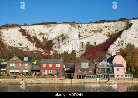 Lewes Cliffe Houses - Stock Image