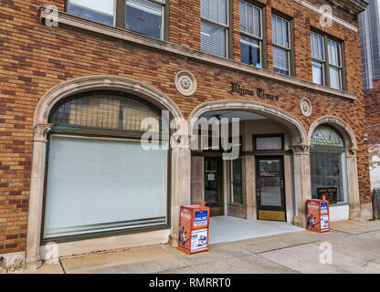 GREENSBORO, NC, USA-2/14/19: The front of the Rhino Times building, a conservative and opinion newspaper published in Greensboro. - Stock Image