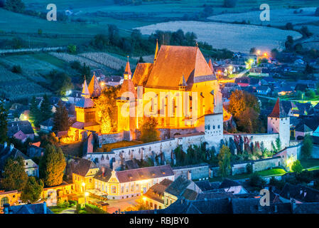 Biertan, Transylvania. One of the first Saxon (German) settlements in medieval Romania. - Stock Image