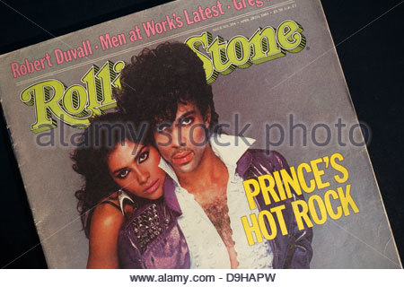 Rolling Stone magazine cover with Prince and Vanity. Editorial use only. Commercial use prohibited. - Stock Image