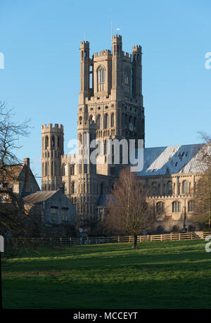 Ely Cathedral - exterior - Stock Image