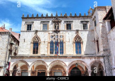 Sponza palace, Dubrovnik, Dalmatia, Croatia - Stock Image