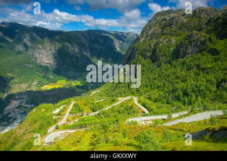 Famous dangerous road - Stock Image