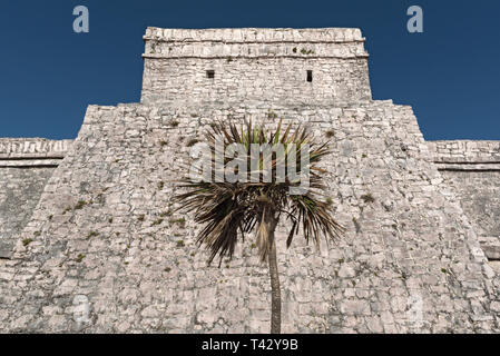 ruins of the mayan city tulum, quintana roo, mexico - Stock Image
