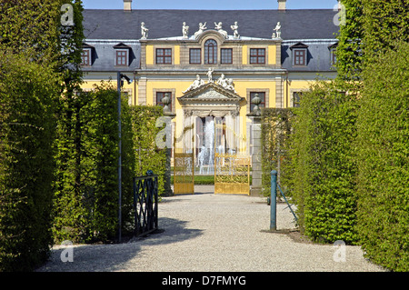 Germany, Lower Saxony, Hannover, Herrenhausen, big garden, historical baroque arrangement - Stock Image