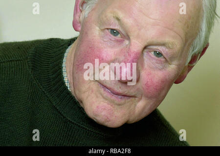 Dr Bill Watson MC, pictured at home aged 81, has died aged 97. He is a former 2nd Lieutenant in the Black Watch and was seconded to the No.2 Special Service Commando unit for the successful raid on the German dry dock at St-Nazaire in WWII. - Stock Image