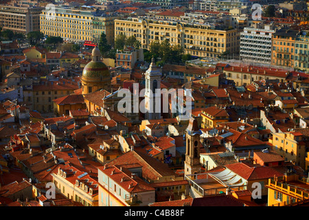 France, French Riviera, Nice; Aerial view of one of the many churches in the Capital of the French Riviera - Stock Image