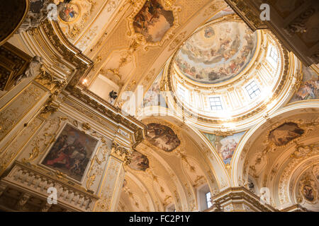 Inside the Bergamo Cathedral. - Stock Image