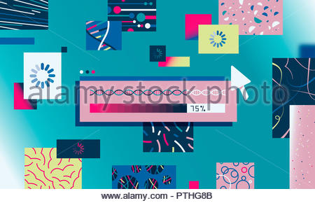 DNA test results - Stock Image