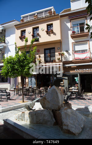 Popular Spanish Tapas bar/cafe, Taberna Las Meijas, in the Plaza Braille, Fuengirola, Costa del Sol, Spain. - Stock Image