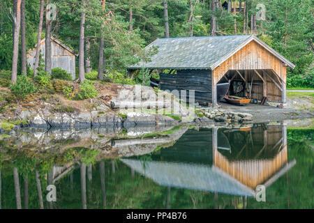 Lake At Sunnmore Open Air Museum, Alesund, Norway - Stock Image
