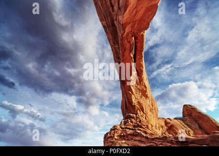 North Window Arch, Arches National Park, Utah, USA - Stock Image