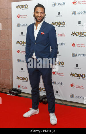 Sean Fletcher on the red carpet at the MOBO Awards. Sean Fletcher is a television presenter known for presenting programmes including Good Morning Britain and Sunday Morning Live. - Stock Image