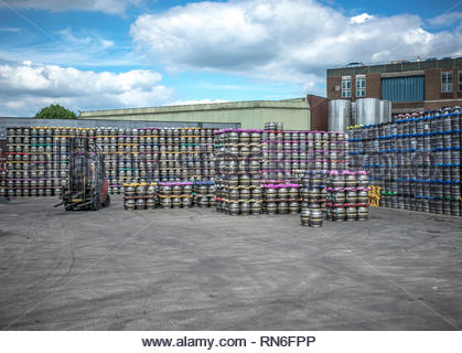 Marston's Park Brewery in Wolverhampton which brews Banks's and Mansfield beers and most Thwaites beers. - Stock Image
