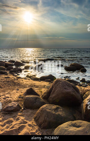 Rocky bay - Stock Image