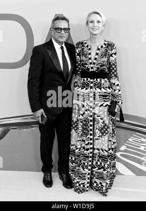 New York, NY - June 03, 2019: Naeem Khan and Karen Bjornson Macdonald attend 2019 CFDA Fashion Awards at Brooklyn Museum - Stock Image
