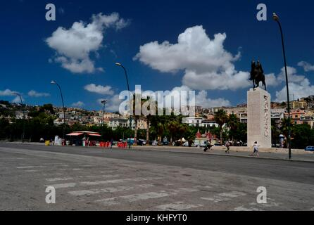 Beautiful view of Mergelllina area from the sea front in Naples,Italy - Stock Image