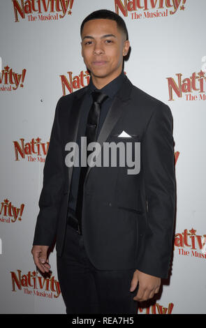 Celebrities attend 'Nativity! The Musical' Press Night held at the Hammersmith Apollo theatre  Featuring: Zack Morris Where: London, United Kingdom When: 20 Dec 2018 Credit: WENN.com - Stock Image
