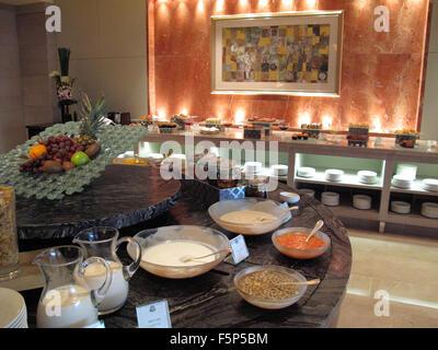 Breakfast buffet at St. Regis Hotel, Beijing CN - Stock Image