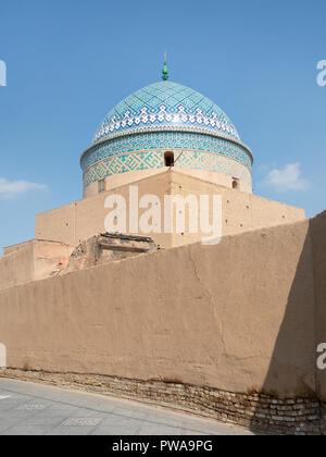 Mausoleum of Bogheh-ye Sayyed Roknaddin in Yazd, Iran. - Stock Image
