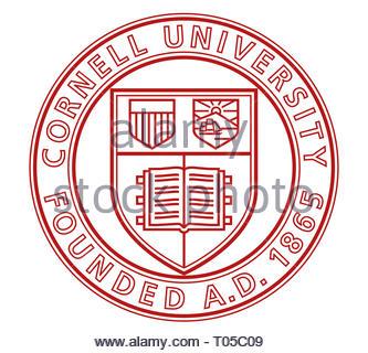 Cornell University logo icon - Stock Image