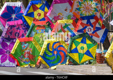 Athens, Greece - March 11 2018: Kites on sale for the Greek custom of Clean Monday - Stock Image