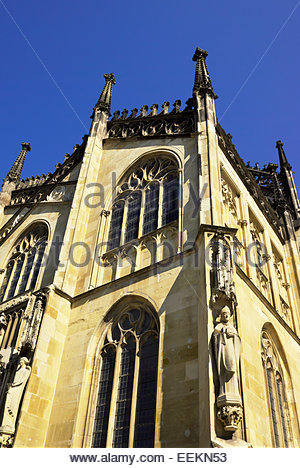 Architectural detail, Sankt Paulus Dom — Saint Paul's Cathedral — in the old town section of Münster / Muenster, - Stock Image