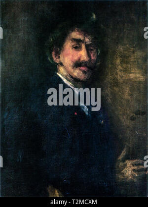 James Abbott McNeill Whistler (1834-1903), Gold and Brown: Self-Portrait, c. 1896 - Stock Image
