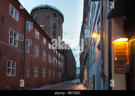 Round Tower in Copenhagen, Denmark - Stock Image