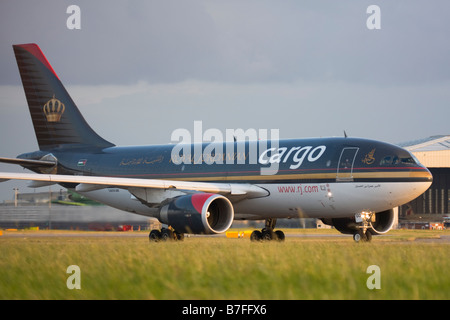 Royal Jordanian Airline Cargo Airbus A310-304(F) at London Heathrow airport. - Stock Image
