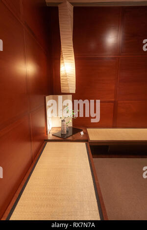 Corner of a Japanese Reading room, The Metropolitan Museum of Art, Manhattan, New York USA - Stock Image