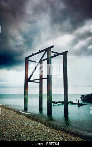 old Brighton Pier - Stock Image