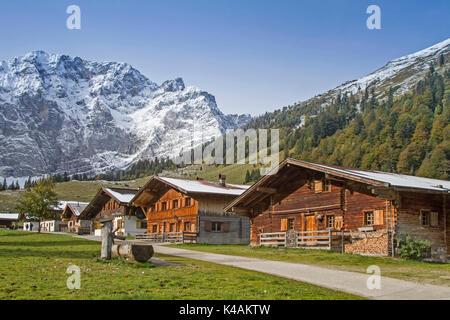 Hut Idyll In Eng In Tirol - Stock Image