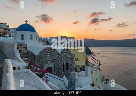 Sunrise at Oia , - Stock Image