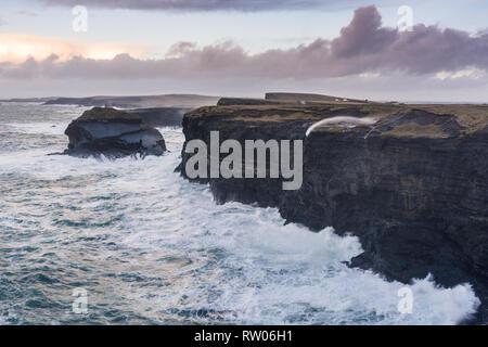 Loop Head in County Clare in Ireland - Stock Image